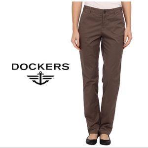 LIKE NEW Dockers Brown Wide Leg Flare Pants 14 32